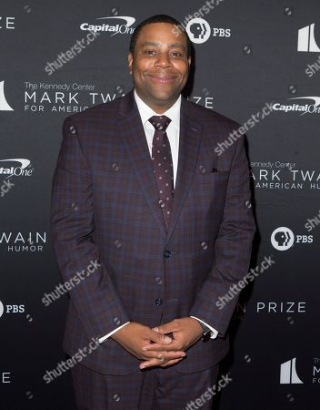 Kenan Thompson arrives at the Kennedy Center for the Performing Arts for the 22nd Annual Mark Twain Prize for American Humor presented to Dave Chappelle, in Washington, D.C