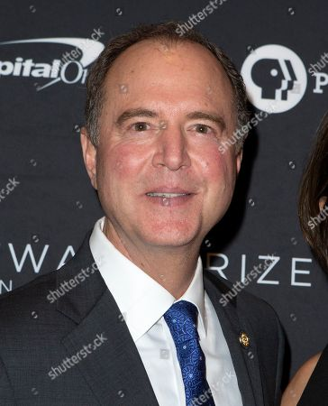 Adam Schiff arrives at the Kennedy Center for the Performing Arts for the 22nd Annual Mark Twain Prize for American Humor presented to Dave Chappelle, in Washington, D.C