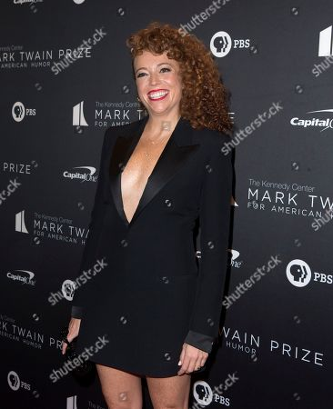 Michelle Wolf arrives at the Kennedy Center for the Performing Arts for the 22nd Annual Mark Twain Prize for American Humor presented to Dave Chappelle, in Washington, D.C