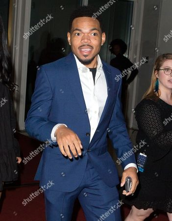 Chance The Rapper arrives at the Kennedy Center for the Performing Arts for the 22nd Annual Mark Twain Prize for American Humor presented to Dave Chappelle, in Washington, D.C