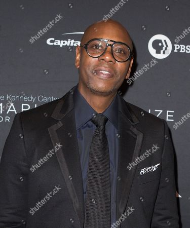 Dave Chappelle arrives at the Kennedy Center for the Performing Arts for the 22nd Annual Mark Twain Prize for American Humor presented to Dave Chappelle, in Washington, D.C