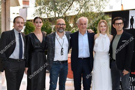Filippo Dini, Valentina Belle, the director Donato Carrisi, Toni Servillo, Caterina Shulha, Vinicio Marchioni