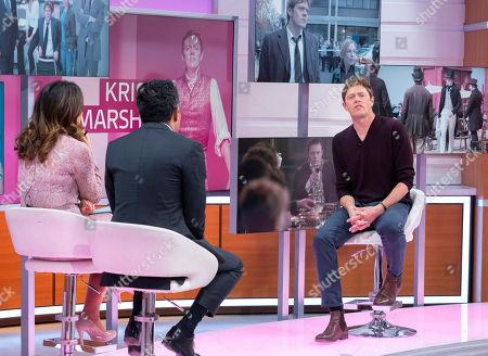 Adil Ray, Susanna Reid with Kris Marshall