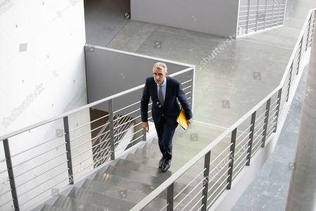 President of the Parliamentary Oversight Panel (PKGr) Armin Schuster arrives for the annual public hearing of Presidents of the Federal Intelligence Service by the Parliamentary Oversight Panel at the Paul-Loebe-Haus in Berlin, Germany, 29 October 2019. The Parliamentary Oversight Panel (PKGr) is responsible for monitoring German intelligence services and such as the Federal Intelligence Service (BND), the Military Shielding Service (MAD), and the Federal Office for the Protection of the Constitution (BfV). Under the Control Body Act, the Federal Government is obliged to fully inform the PKGr of the general activities of the intelligence services.