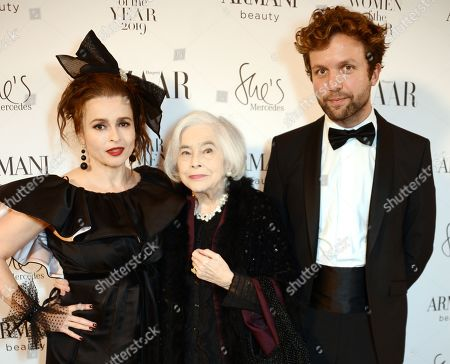 Stock Photo of Helena Bonham Carter, Elena Propper de Callejon and Rye Dag Holmboe