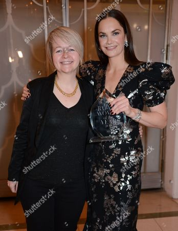Sarah Waters and Ruth Wilson winner of the Television Icon award
