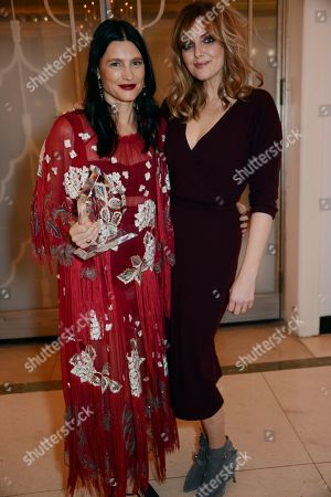 Stock Image of Tabitha Simmons winner of the Accessory Designer award and Sophie Dahl