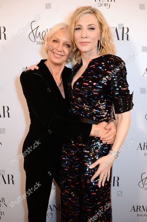 Stock Picture of Mary Greenwell and Cate Blanchett winner of the Philanthropy award