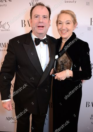 Stock Image of Philip Astor and Justine Picardie winner of the Women of the Year award