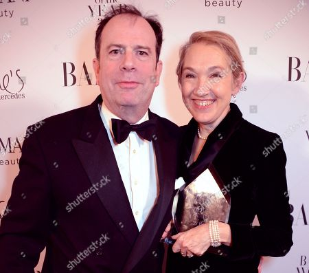 Stock Photo of Philip Astor and Justine Picardie winner of the Women of the Year award