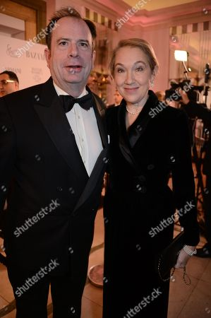 Stock Picture of Philip Astor and Justine Picardie winner of the Women of the Year award