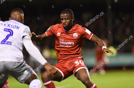 Bez Lubala of Crawley during the Carabao Cup fourth round match between Crawley Town and Colchester United at the People's Pension Stadium , Crawley , 29 October 2019