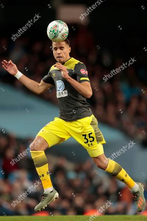 Jan Bednarek of Southampton takes the ball downfield