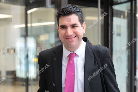 Shadow Secretary of State for Justice Richard Burgon leaving Labour Party HQ.