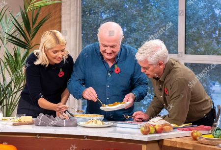 Phillip Schofield and Holly Willoughby with Rick Stein