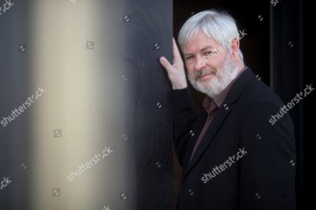 Stock Photo of British writer Jonathan Coe poses during an interview in Barcelona, Spain, 29 October 2019, on the occasion of the presentation of the Spanish edition of his novel 'Middle England'.