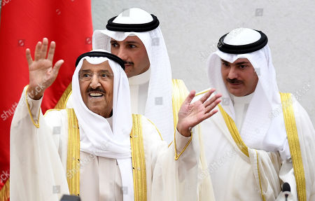Emir of Kuwait Sheikh Sabah al-Ahmad al-Jaber al-Sabah (L) arrives to attend the fourth ordinary session of the National Assembly's 15th legislative term at Kuwait National Assembly in Kuwait City, Kuwait, 29 October 2019. Kuwaiti Emir inaugurated the fourth session of 15th legislative term of the Kuwaiti National Assembly.