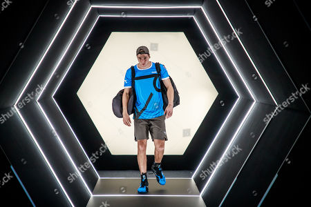 Jan-Lennard Struff of Germany arrives for his second round match against Karen Khachanov of Russia at the Rolex Paris Masters tennis tournament in Paris, France, 29 October 2019.
