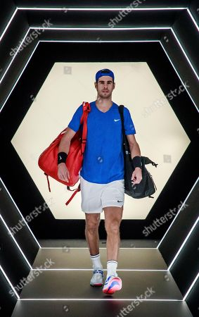 Karen Khachanov of Russia arrives for his second round match against Jan-Lennard Struff of Germany at the Rolex Paris Masters tennis tournament in Paris, France, 29 October 2019.