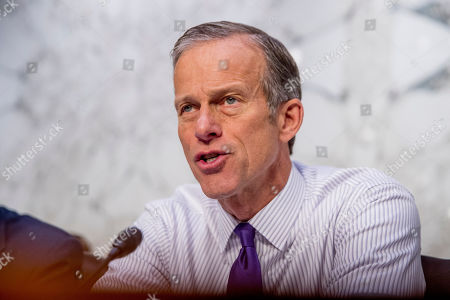 Sen. John Thune, R-S.D., questions Boeing Company President and Chief Executive Officer Dennis Muilenburg as he appears before a Senate Transportation Committee hearing on 'Aviation Safety and the Future of Boeing's 737 MAX' on Capitol Hill in Washington
