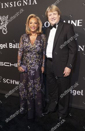 Stock Picture of Denise Rich and Peter Cervinka