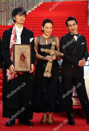 Takumi Saito, Misuzu Kanno and Kazuki Kitamura