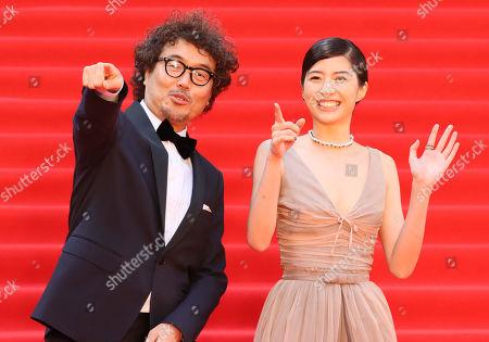 Stock Photo of Koichiro Miki and Yui Sakuma