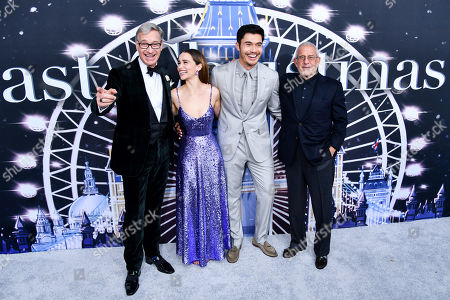 Paul Feig, Emilia Clarke, Henry Golding and guest
