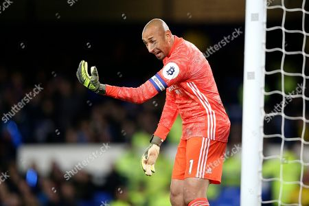 Watford goalkeeper Heurelho Gomes (1)  during the EFL Cup match between Everton and Watford at Goodison Park, Liverpool