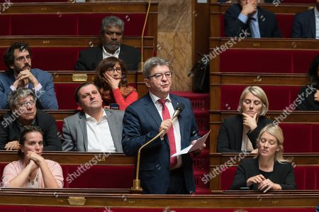 Jean-Luc Melenchon during the weekly session of questions to the government at the national Assembly.