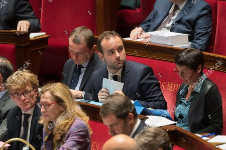 French deputy minister, Sebastien Lecornu during the weekly session of questions to the government at the national Assembly.
