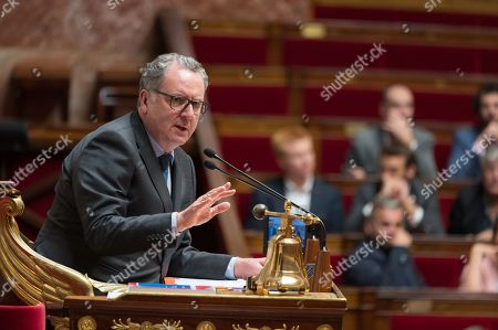 President of the French National Assembly Richard Ferrand during the weekly session of questions to the government at the national Assembly.