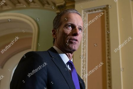 Republican Senator from South Dakota John Thune participates in a news conference on Capitol Hill in Washington, DC, USA, 29 October 2019. Republican Senators took the opportunity to criticize House Democrats' approach to an impeachment probe into US President Donald J. Trump.