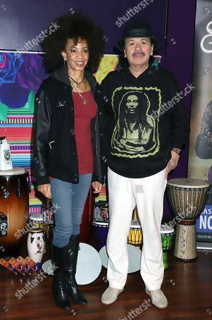 Cindy Blackman-Santana and Carlos Santana