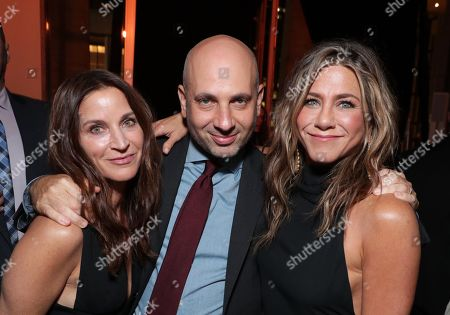 "NEW YORK, NEW YORK - OCTOBER 28: Michael Ellenberg, Executive Producer, Amanda Anka and Jennifer Aniston, Executive Producer, attend Apple's global premiere of ""The Morning Show"" at Josie Robertson Plaza and David Geffen Hall, Lincoln Center for the Performing Arts, New York City on October 28, 2019. ""The Morning Show"" debuts November 1 on Apple TV+, available on the Apple TV app."