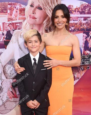 Sarah Shahi and son Wolf Howey