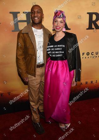 "Blair Imani, Akeem Omar Ali. Blair Imani, right, and Akeem Omar Ali arrive at the Los Angeles premiere of ""Harriet"" at the Orpheum Theatre on"