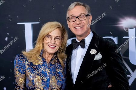 "Paul Feig, Laurie Feig. Laurie Feig and Paul Feig attend the premiere of ""Last Christmas"" at AMC Lincoln Square, in New York"