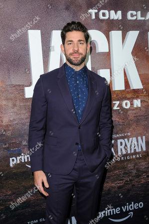 "Stock Image of John Krasinski attends the premiere of Amazon Prime's ""Tom Clancy's Jack Ryan"" season two at Metrograph, in New York"
