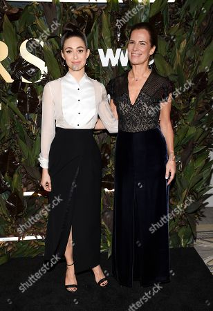 Emmy Rossum, Roberta Armani. Actress Emmy Rossum, left, and Roberta Armani attends the fourth annual Women's Wear Daily WWD Honors at the InterContinental Barclay, in New York