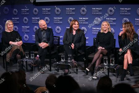 Mimi Leder, Michael Ellenberg, Kerry Ehrin (Exec. Producers), Reese Witherspoon and Jennifer Aniston