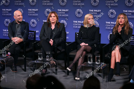 Michael Ellenberg, Kerry Ehrin (Exec. Producers), Reese Witherspoon and Jennifer Aniston