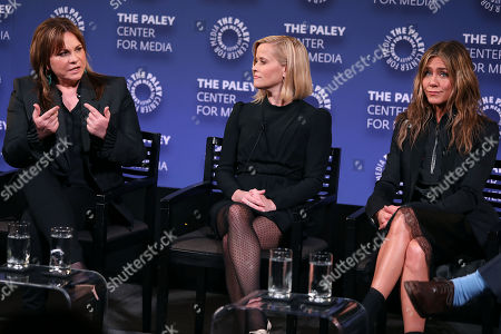 Stock Photo of Kerry Ehrin (Exec. Producer), Reese Witherspoon and Jennifer Aniston