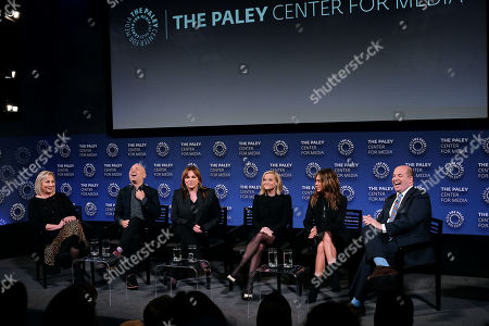 Stock Picture of Mimi Leder, Michael Ellenberg, Kerry Ehrin (Exec. Producers), Reese Witherspoon, Jennifer Aniston and Brian Stelter