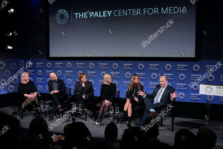 Mimi Leder, Michael Ellenberg, Kerry Ehrin (Exec. Producers), Reese Witherspoon, Jennifer Aniston and Brian Stelter