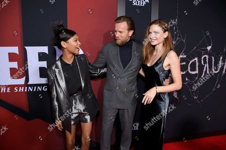 Kyliegh Curran, Ewan McGregor and Rebecca Ferguson