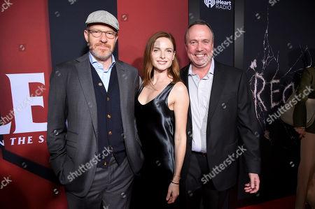 Toby Emmerich, Rebecca Ferguson and Trevor Macy
