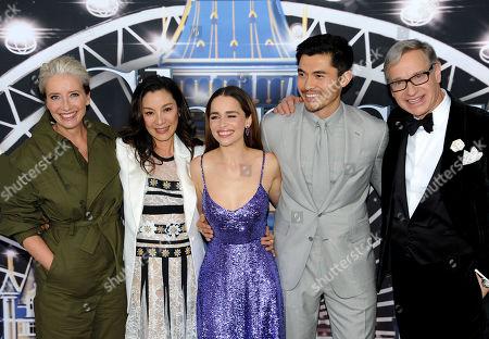 Emma Thompson, Michelle Yeoh, Emilia Clarke, Henry Golding and Paul Feig