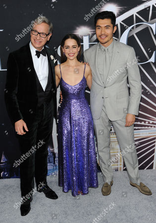 Paul Feig, Emilia Clarke and Henry Golding