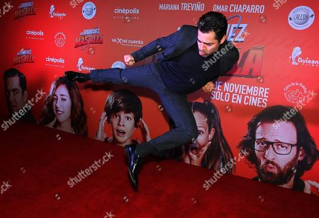 Stock Photo of Omar Chaparro poses on the red carpet during the movie premiere of 'Los Rodriguez y el Mas Alla' (The Rodriguez and the Far Side), in Mexico City, Mexico, 29 October 2019. The movie, produced in Spain, will open on 31 October 2019.